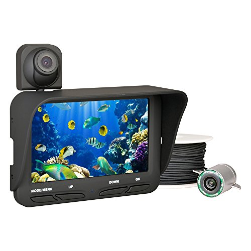Generic FF118B - Professional Fish Finder Dual Camera DVR with 4.3 inch LCD Monitor 20m Cable (Black)