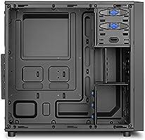 Sharkoon VS4-S - Caja de Ordenador, PC Gaming, Semitorre ATX, Negro: Amazon.es: Informática