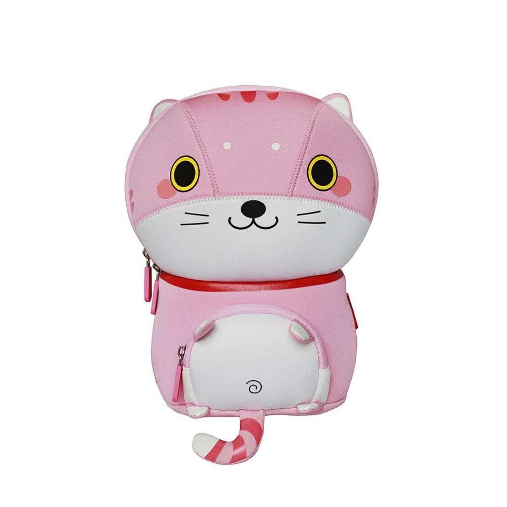 NOHOO Boys Girls 3dスクールバッグ動物Cartoon Kidsバックパック幼児Bookbag Free ピンク B07FHYPFJZ Meow-pink