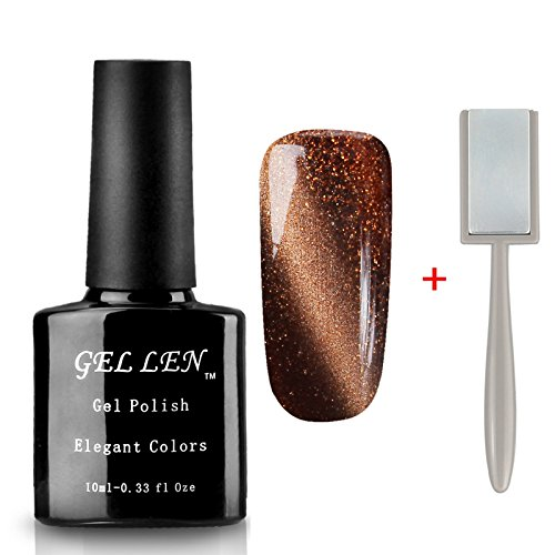 Gellen 3D Cat Eye Series UV Gel Nail Polish 10ml + Free Magn