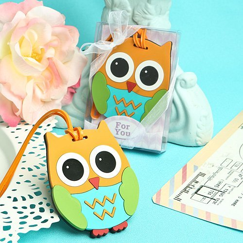 Fashioncraft Cute and Practical owl Design Luggage Tags (Favour Tags)