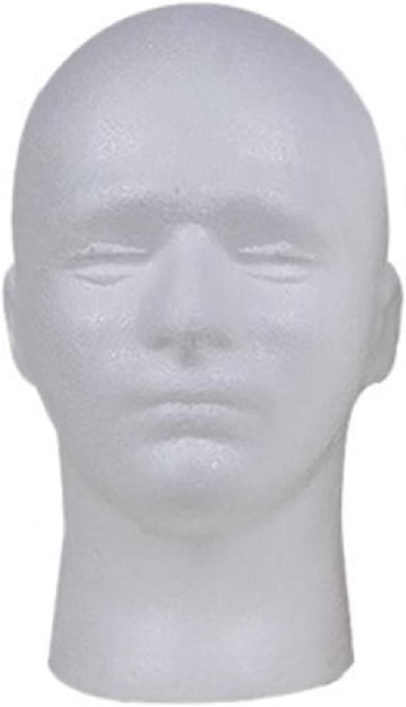 Female-F Styrofoam Mannequin Head Female Male Training Head Cosmetology Mannequin Head for Wigs Making and Display