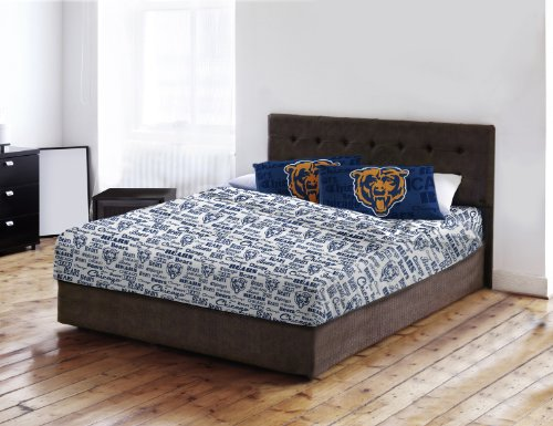 Bears Chicago Set Sheet Full (Northwest Chicago Bears Full Sheet Set Anthem Bed Sheets)