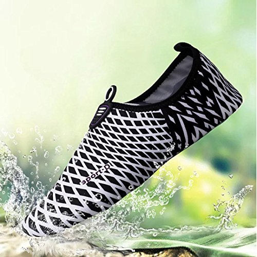 Kaiki Unisex Strandschuhe Aquaschuhe Schwimmschuhe Badeschuhe Wasserschuhe Surfschuhe für Damen Herren Kinder Black