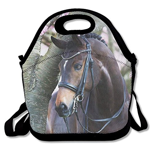 Beautiful Arabian Horse Lunch Bag Lunch Box Handbag 3D Animal Prints For Kids And Adults by matthewwei