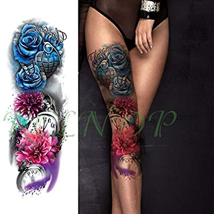 ljmljm 3pcs Tatuaje Impermeable Etiqueta engomada del Florista de ...