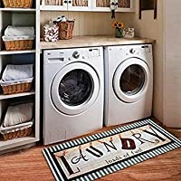 Ustide Vintage Style Waterproof Floor Runners Non Skid Kitchen Floor Mat Laundry Room Cheap Washhouse Mat Bathroom Rugs Non-Slip Rubber Area Rug 2x4 (20'x48', Vintage Style)