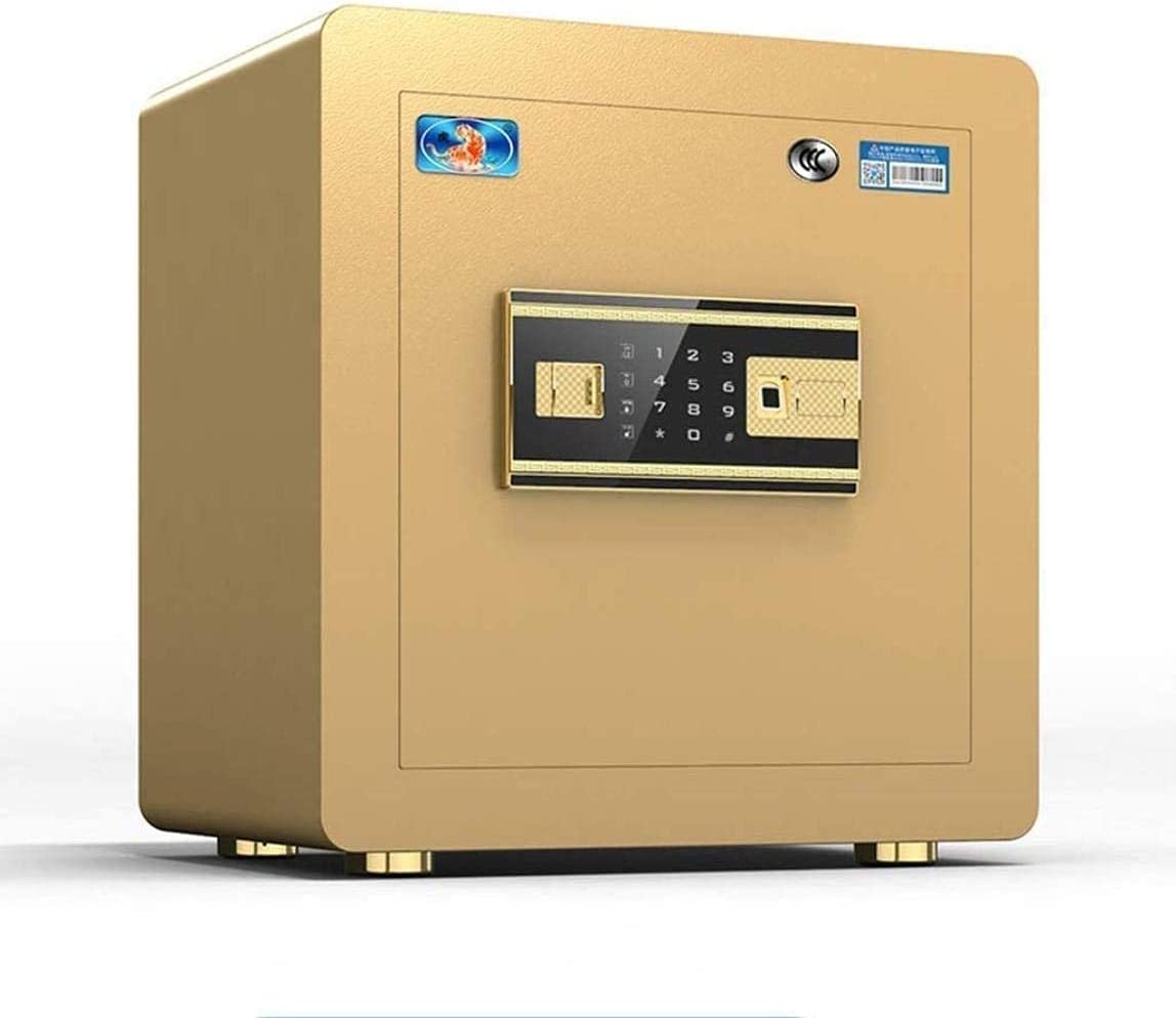 PIVFEDQX Security Safe Box, Safes Safes Fingerprint Home Burglar Smart Mini Office Steel New Lockers Safebox