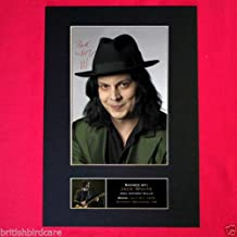 JACK WHITE White Stripes Signed Signed Quality Mounted Photo PRINT A4 21x30cm