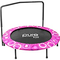 Pure Fun Super Jumper Kids Trampoline with Handrail