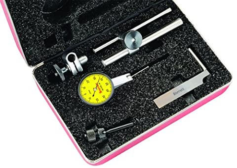 Starrett 709MALCZ Dial Test Indicator with Attachments, Dovetail Mount, Yellow Dial, 0-50-0 Reading, 35mm Dial Dia., 0-0.8mm Range, 0.01mm - Starrett Test Indicator