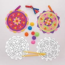 Baker Ross Kit Sand Art Rangoli (confezione da 6) - Attività Creative per Bambini