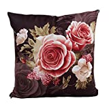YJYdada Printing Dyeing Peony Sofa Bed Home Decor Pillow Case...