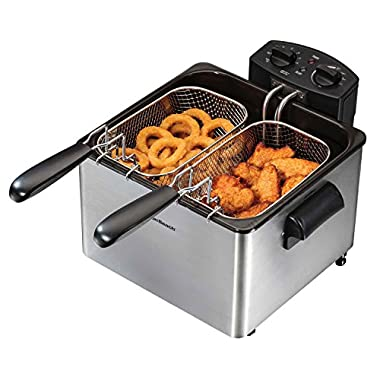 Hamilton Beach Professional-Style Electric Deep Fryer, 3-Liter Oil Capacity (35034)
