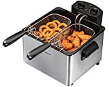 Hamilton Beach (35034) Deep Fryer, With Basket, 4.5 Liter Oil Capacity, Electric, Professional