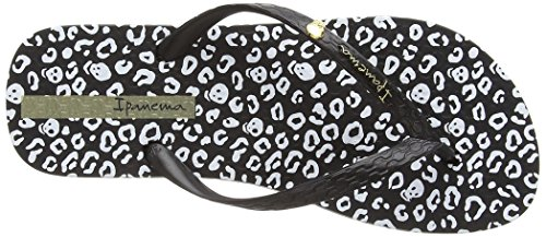 femme Animal White Tongs Print Noir Black Ipanema xFtwTRqR