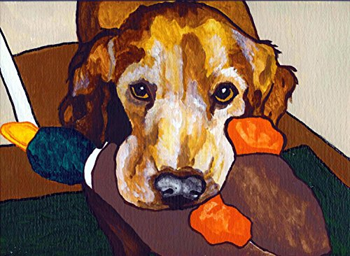 RED DACHSHUND Martini Dog Pop Art Print VERN Painting