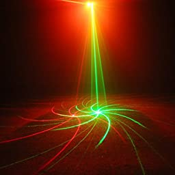 SUNY Profession 2 Lens Laser Light Red Green 9 Big Gobos Water Wavy Galaxy Effect DJ Bar Home Party Indoor Projector LL-09RG