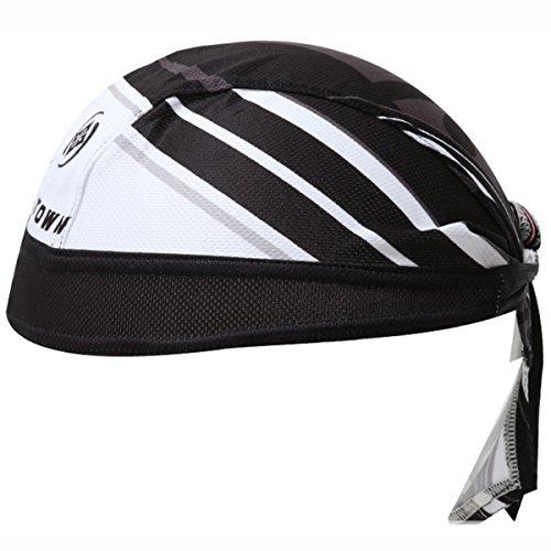 XINTOWN Unisex Sports Headwrap Doo Rag Bandana Chemo Cap High Elastic Scarf Hat - Black and ()