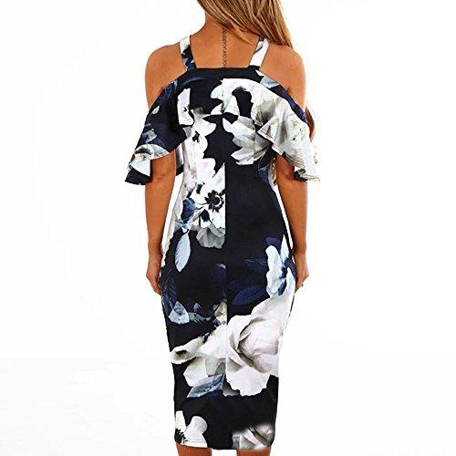 Maxi Chic Cocktail Robes Soire Sunenjoy t sans de Robe Plage Robe Casual lgant Bretelle Imprim Longue Bohme Bustier Marine Halter Femme Floral Robe wwqIR4U