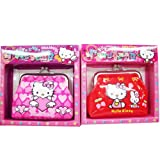 Hello Kitty Metal Clip Coin Wallet -pink or red
