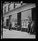 Vintography Reproduced Photo of Chicago, Illinois. Railroad Help Wanted Signs in Windows of an Employment Agency Near The Union Station 1943 Delano C Jack 23a