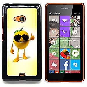 Funny Chill Orange Caja protectora de pl??stico duro Dise?¡Àado King Case For Microsoft Nokia Lumia 540 N540