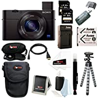 Sony DSC-RX100M III Cyber-shot Digital Still Camera + 64GB Sony Memory Card + Deluxe Focus Accessory Kit Key Pieces Review Image
