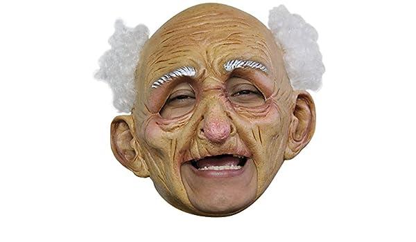 GHOULISH Máscara Oldman Anciano sin Barbilla para Halloween: Amazon.es: Juguetes y juegos