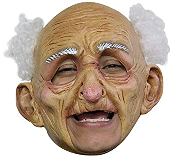 GHOULISH Máscara Oldman Anciano sin Barbilla para Halloween