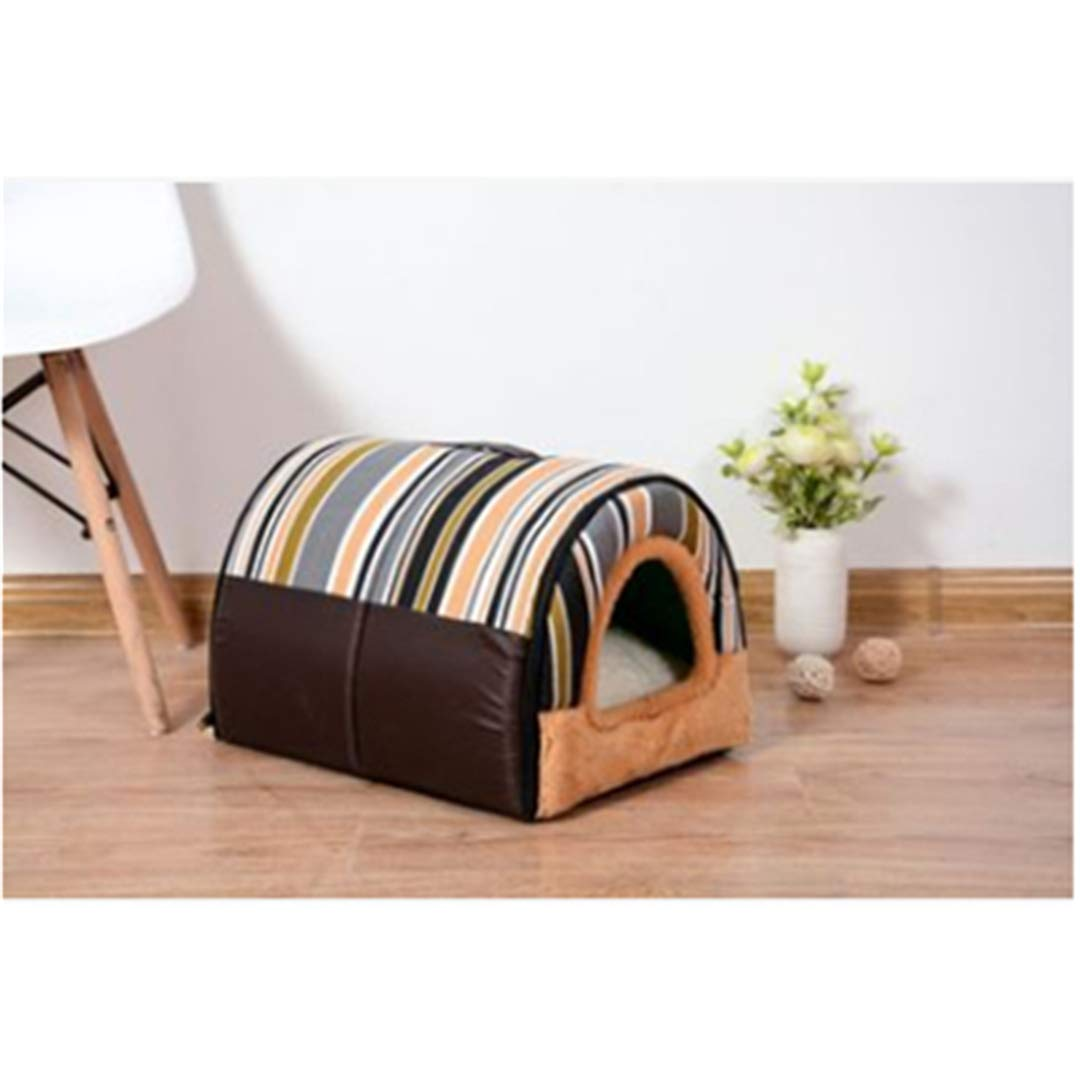Pet-5 L 55x38x33cm Pet-5 L 55x38x33cm Multi-Function Dog House Nest with Mat Foldable Pet Dog Cat Bed House for Small Medium Dogs Travel Pet Bed Bag
