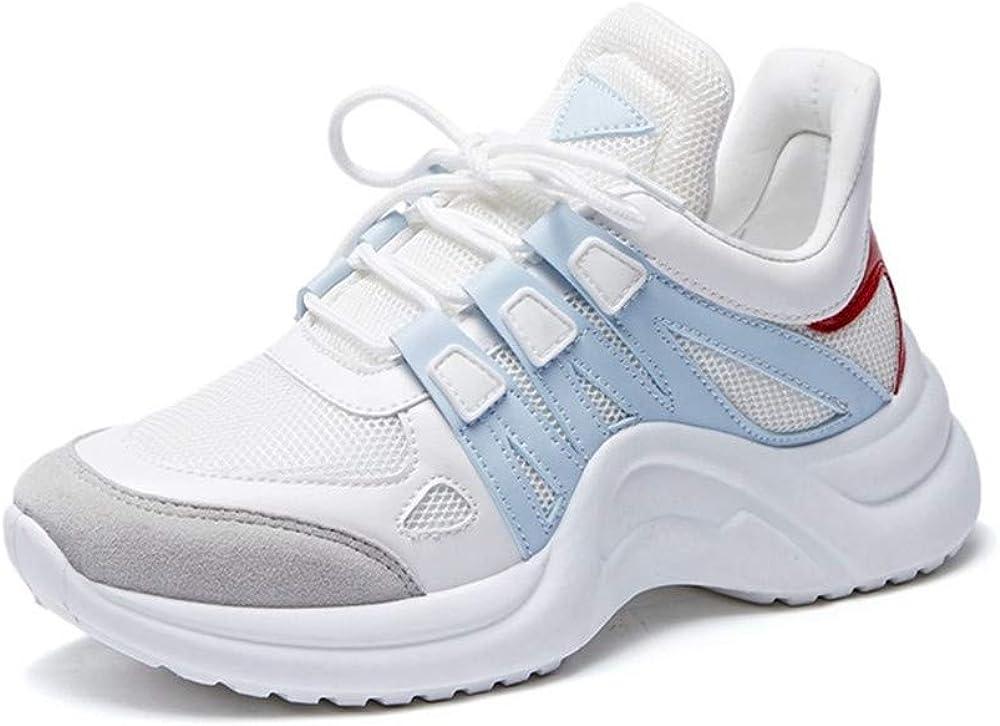 Zapatillas Deportivas para Hombre y Mujer, Transpirables, con Fondo Grueso de Malla, pequeñas Zapatillas Blancas para Mujer, Azul (Azul), 41 EU: Amazon.es: Zapatos y complementos