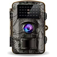 Gosira Trail Game Cameras 1080P HD Night Vision Latest 940nm No Flash Infrared LEDs 0.4S Trigger 2.4 Viewer 12MP Waterproof Wildlife Hunting Animal Deer Motion Sensor Activated Outdoor Trap Cam