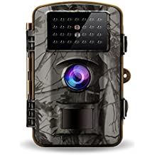 """Gosira Trail Game Cameras 1080P HD Night Vision Latest 940nm No Flash Infrared LEDs 0.4S Trigger 2.4"""" Viewer 12MP Waterproof Wildlife Hunting Animal Deer Motion Sensor Activated Outdoor Trap Cam"""