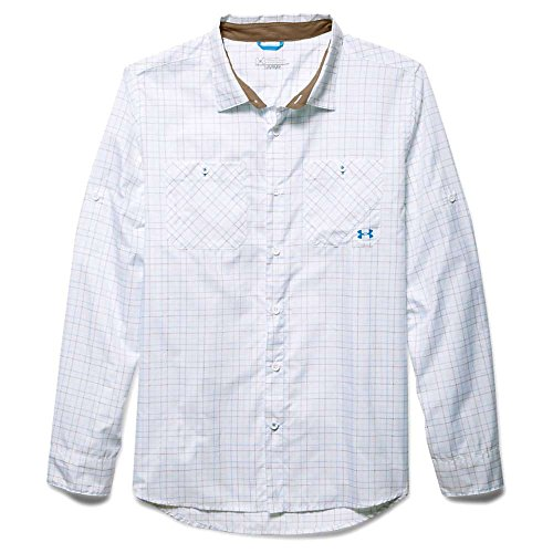 Under Armour Chesapeake 2 LS Plaid Shirt - Men's Electric Blue Medium