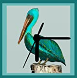 Pelican Bellycan, Pelican Clock, From Original Artwork, Gift Boxed, Desk Clock, 2 Sizes, Wall Clock, Includes Stand, Free Shipping For Sale