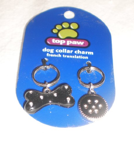 top-paw-black-bone-paw-collar-charms