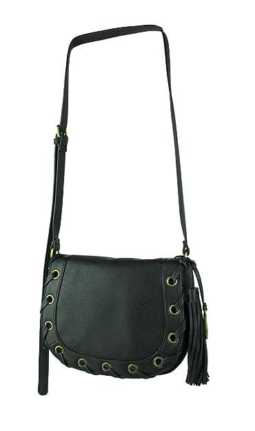 224dd60f40 CARLOS by Carlos Santana Women's Thea Saddle Bag Black Handbag: Handbags:  Amazon.com