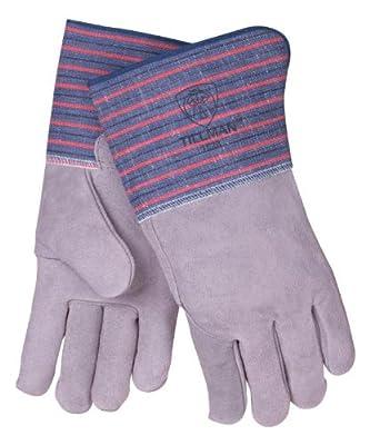 Tillman 1528K Split Cowhide Full Leather Back Cuff Work Gloves, Large