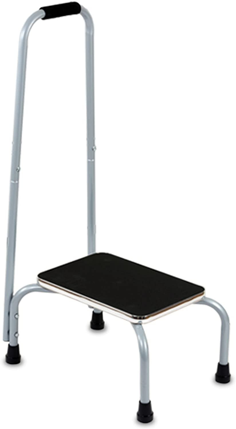 Hoovy Ultimate Support Step Stool with Handle Convenient Heavy- Duty Design, Safe Non-Slip Platform, Exclusive Cushion Gripped Handrail Handle, Multi-Purpose Essential Step Ladder