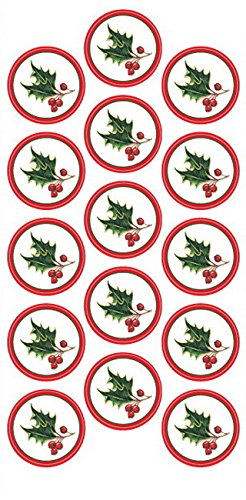 Ivy Christmas Seals, 1.25 Inches Dia, Design, 40 Pack (47904W) ()