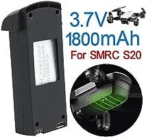 Ewendy - Batería de repuesto para dron SMRC S20 RC (2 unidades, 3 ...