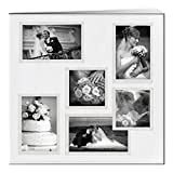 """Baby : Pioneer 12-Inch by 12-Inch Collage Frame Embossed """"Wedding"""" Sewn Leatherette Cover Memory Book, Ivory"""