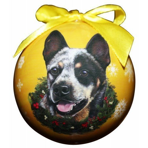 Blue Dog Ornaments - E&S Pets Australian Cattle Dog Christmas Ornament Shatter Proof Ball