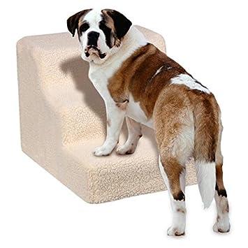 Yaheerech 3 Pasos Escalera de Perros Gatos Mascotas con Fundas Extraíble Color Beige: Amazon.es: Productos para mascotas