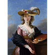 'Elisabeth Louise Vigee Le Brun-Self Portrait In A Straw Hat,after 1782' Oil Painting, 16x22 Inch / 41x57 Cm ,printed On Polyster Canvas ,this Cheap But Art Decorative Art Decorative Prints On Canvas Is Perfectly Suitalbe For Study Decor And Home Decor And Gifts