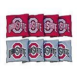 NCAA Ohio State Buckeyes OSU Unisex 29903Cornhole Bag Set (All Weather), Multicolor, One Size