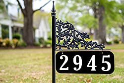 Oak 30 Inch Reflective Address Sign - Double Sided - Easy To Read Day & Night Positive Reviews On Amazon
