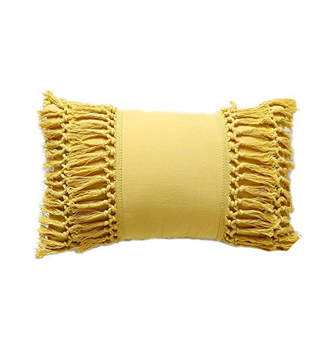 Tassel Throw Pillow Decorative Cotton Sham,12