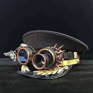 HHF Caps y Sombreos Sombrero Militar de Steampunk, Sombrero ...